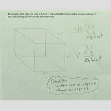 Cube Volume And Surface Area