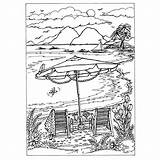 Coloring Haven Creative Summer Scenes sketch template