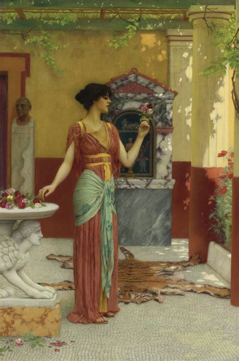 beautiful paintings john william godward  bouquet