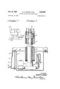 patent us3219306 support and brake for barber chair