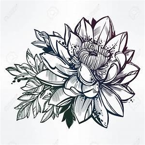 Dessin Fleurs De Lotus : dessin tatoo fleur de lotus ~ Dode.kayakingforconservation.com Idées de Décoration