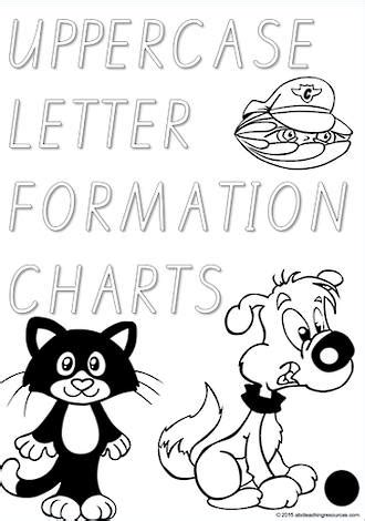 foundation handwriting uppercase letter formation qld