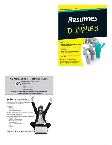 resumes for dummies 6th edition free sle chapter free