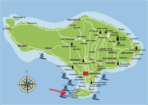 map  bali  bingin beach   south