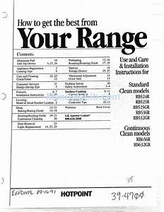 Hotpoint Rb524r Use And Care  U0026 Installation Instructions
