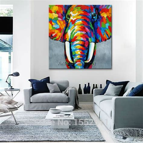 animal elephant oil painting  canvas painting  living