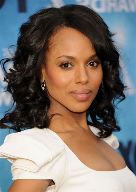 kerry washington black curly hairstyle  dating styles
