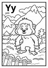 Yeti Coloring Letter Colorless Alphabet Children Template Illustration Dreamstime Pages Illustrations Sketch Vectors Preview sketch template