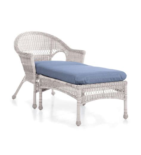 chaise h et h easy care wicker chaise patio lounge chair ebay