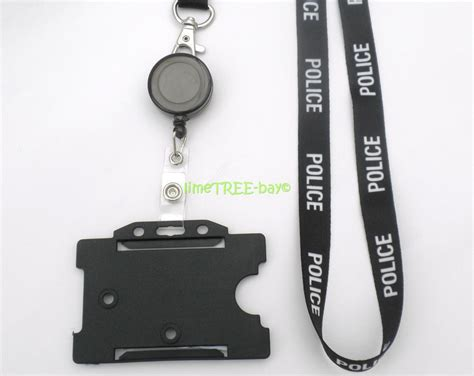 Police Lanyard Id Card Holder Badge Reel Security Identity Business Gift Card Printing Generator Software Factory Css Grid Logo Graphics Vouchers Video Game Examples Marriage For Green