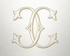 interlocking monogram design ct tc monogram design vintage lettering monograms