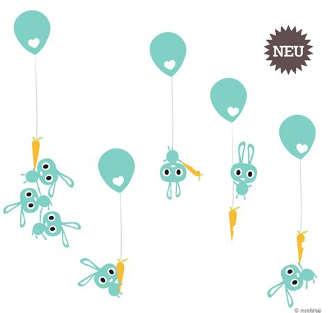 Wandtattoo Kinderzimmer Hase by Wandtattoo Kinderzimmer Hasen Luftballons Monkimia