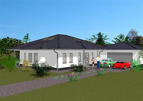Haus Gezeichnet Vorne by Moderner Bungalow Hausbau Gse Haus