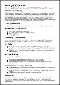 curriculum vitae sle for nursing students nursing cv sle myperfectcv