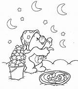 Coloring Moon Pages Goodnight Printable Popular sketch template
