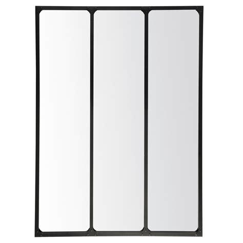 horloge de cuisine murale emdé miroir 3 bandes métal 90 x 120 cm miroir emdé sur maginea