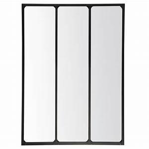 Miroir Metal Noir : miroir 3 bandes m tal 90 x 120 cm gp396t120 0 achat vente miroir sur ~ Teatrodelosmanantiales.com Idées de Décoration