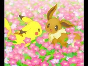pokemon cute pikachu and eevee i love you like a love song ...