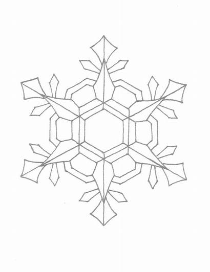 Snowflake Coloring Pages Printable Snowflakes Pattern Patterns