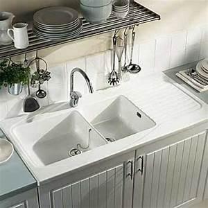 Evier Cuisine Ceramique : evier de cuisine ceramique blanc ~ Premium-room.com Idées de Décoration