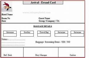 bell desk errand card arrival and departure errand card With errand service invoice