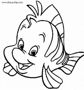 Flounder The Little Mermaid Coloring Pages | www.pixshark ...