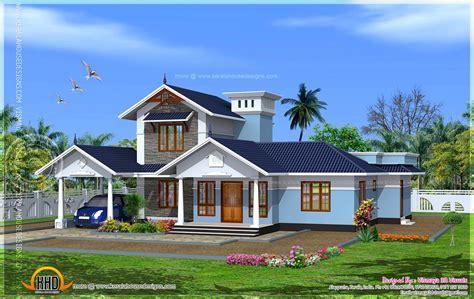 C&s Home Design : Kerala Model Villa With Open Courtyard