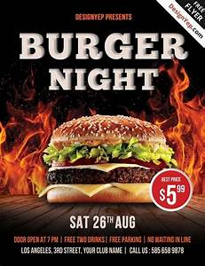 Pizza Sale Flyer Template Free Burger Night Psd Flyer Template Burger Night