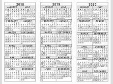 Three Year Calendar Printable Free » Calendar Template 2018