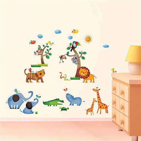 Wandtattoo Kinderzimmer Safari by Wandsticker Wandpuzzle Wandtattoo Dschungel Safari Tiere