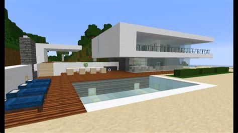 minecraft modern simple beach ocean weekend houseestatevillamansion tutorial   build