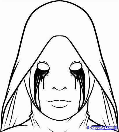 Horror Draw Drawing Story Coloring Pages Step