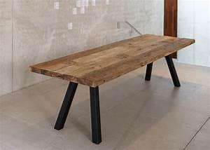 Table Et Banc En Bois : banc de table de repas en bois design chez ksl living ~ Melissatoandfro.com Idées de Décoration