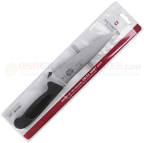 victorinox kitchen knives sale victorinox forschner 7 5 inch chefs knife fully serrated blade black fibrox handle vn40720
