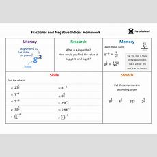 Fractional And Negative Indices Homework By Mrsmorgan1  Teaching Resources Tes