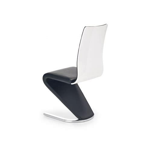chaise blanche et noir chaise design et blanche pied u horine