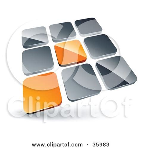 clipart illustration of a pre made logo of two blue tiles