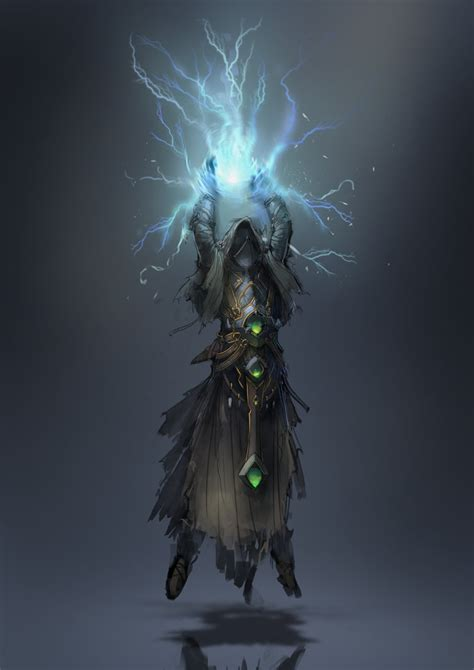 lightning mage by 2blind2draw on