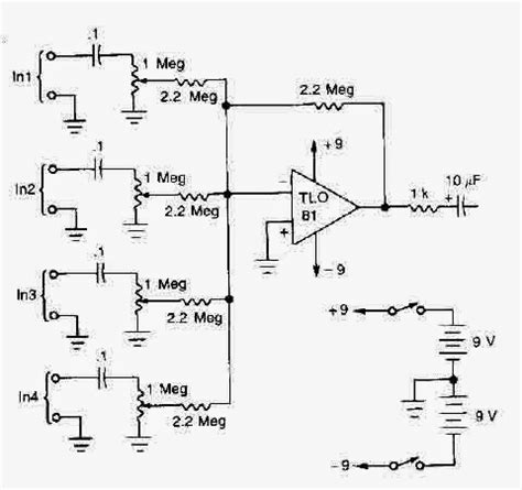Audio Schematic Wiring Diagram Check For Mic Mixer