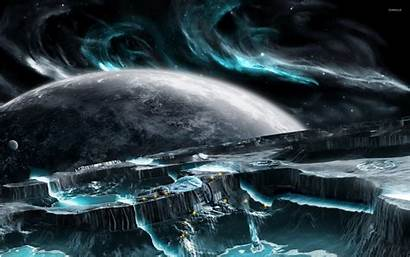 Moon Wallpapers Base Sci Fi Space Meshuggah