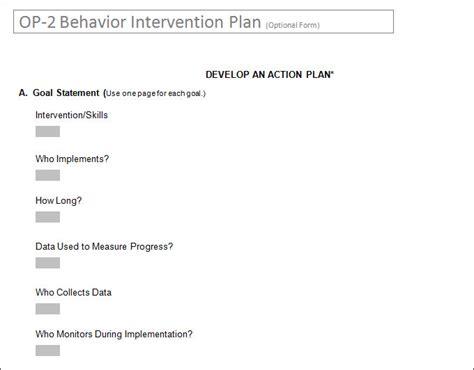 behavior intervention plan template behavior intervention plan template 4 free word pdf documents free premium templates