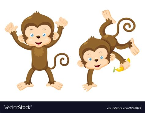 monkey royalty free vector vectorstock