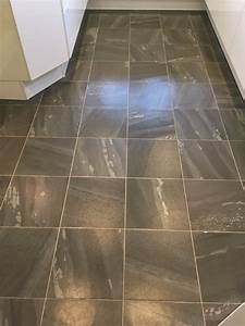 Amtico, Vinyl, Floor, Tiles, Cleaned, And, Sealed, In, A, Heysham, Kitchen