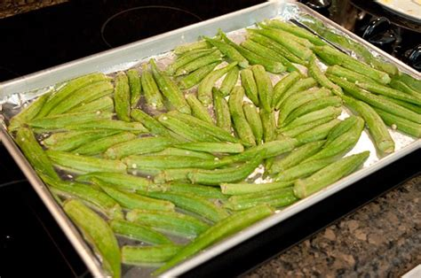 how to cook okra on the stove okra chips never enough thyme