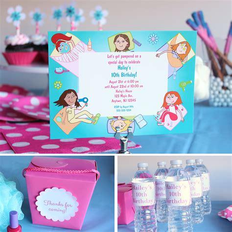 spa party ideas birthday   box