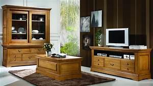 Meuble Salon Bois : meubles de salon campagnard benoid pose meubles de salon paca france ~ Teatrodelosmanantiales.com Idées de Décoration