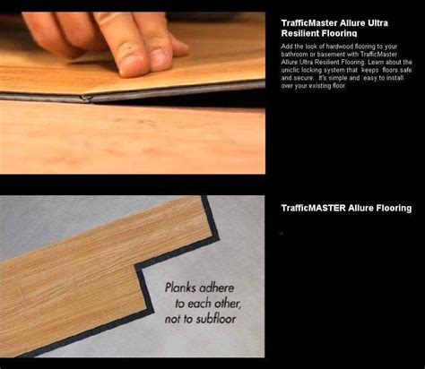 TrafficMaster Allure Ultra Resilient Plank Flooring   The