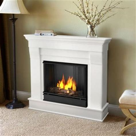 Gas L Mantles Home Depot by Real Chateau 41 In Ventless Gel Fuel Fireplace In
