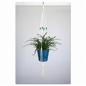 suspension pour plante en macrame bymadjo allois deco With salle de bain design avec noeuds décoration pour paquets cadeaux