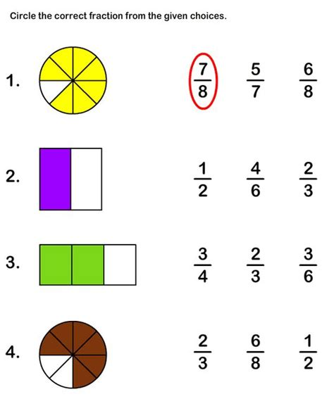 fractions worksheets math worksheets and fractions on